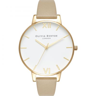 White Dial Gold & Sand Watch