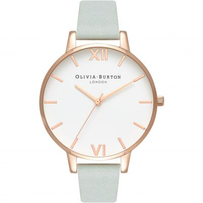 White Dial Rose Gold & Sage Watch