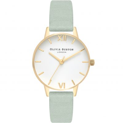 White Dial Gold & Sage Watch