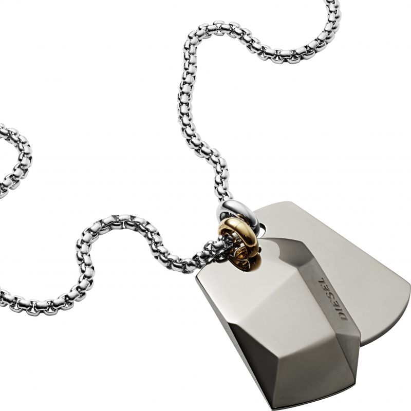 Diesel Herr Double Dogtags Necklace Rostfritt stål DX1143040