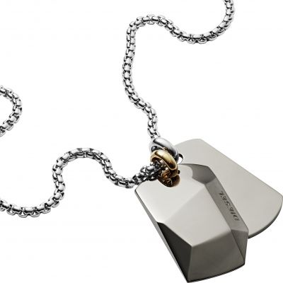 Joyería para Hombre Diesel Jewellery Double Dogtags Necklace DX1143040