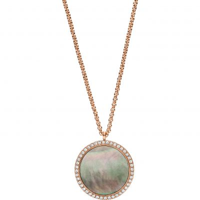 Fossil Dam Classics Necklace Rostfritt stål JF02952791