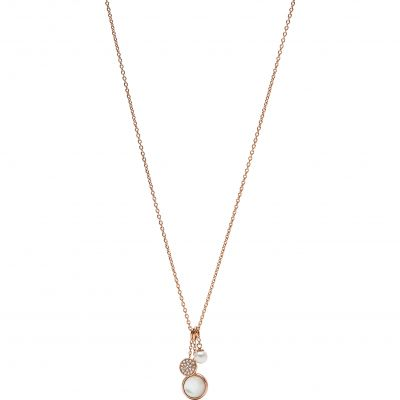 Fossil Dam Classics Necklace Rostfritt stål JF02960791