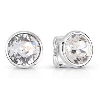 Ladies Guess Miami Silver Earrings
