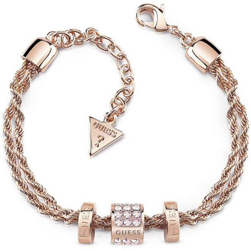 Ladies Guess G Colors Rose Gold Bracelet