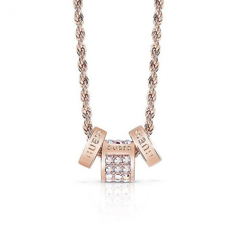 Ladies Guess G Colors Rose Gold Necklace