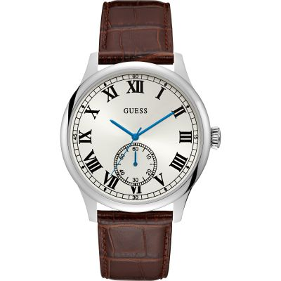 Guess Mens Dress Cambridge Herrenuhr in Braun W1075G4