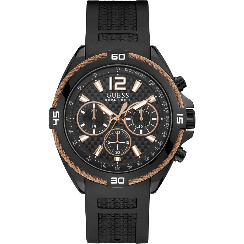 GUESS Uhr | Guess Mens Sport Surge Herrenchronograph in Schwarz W1168G3