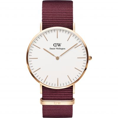 Daniel Wellington Classic Classic 40 Roselyn Unisexuhr in Rot DW00100267