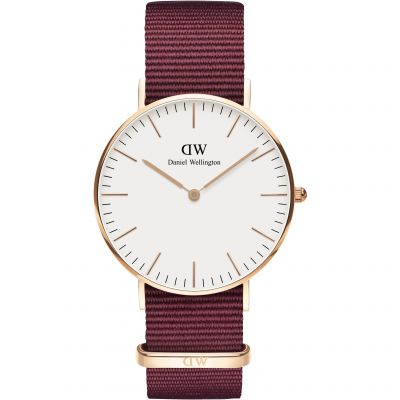 Daniel Wellington Classic Classic 36 Roselyn Unisexuhr in Rot DW00100271