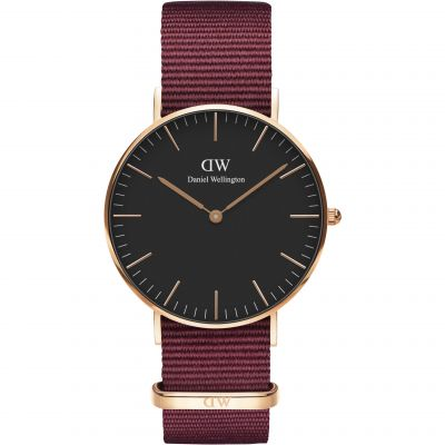 Daniel Wellington Classic Classic 36 Roselyn Unisexuhr in Rot DW00100273