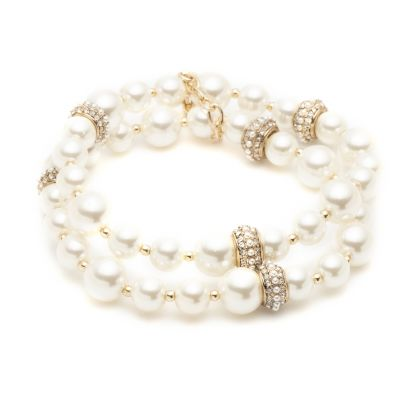 2 Row Pearl Stretch Bracelet 60505487-887