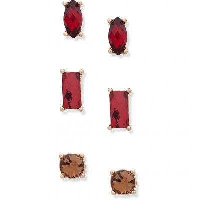 Anne Klein Dames Stone Trio Earrings Basismetaal 60505572-887