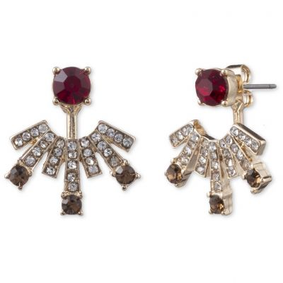 Anne Klein Dam Stone Floater Earrings Basmetall 60505580-887