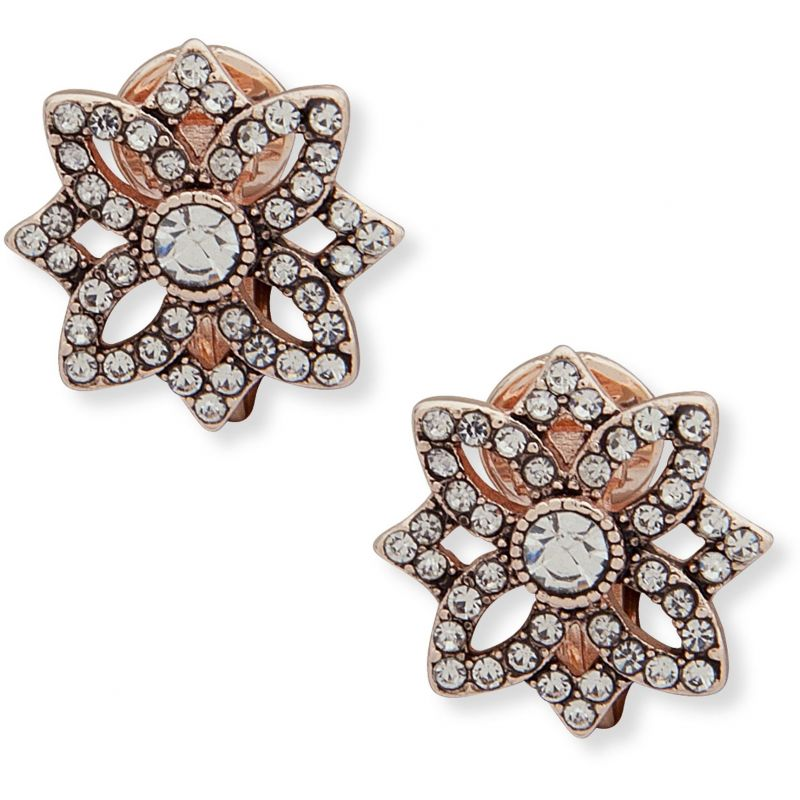 Openwork Button Closed Ears Earrings 60505756-9DH