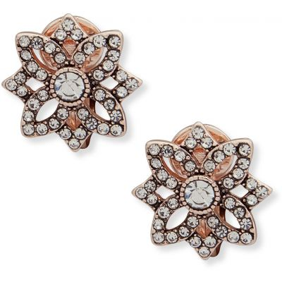 Anne Klein Dames Openwork Button Earrings Basismetaal 60505756-9DH