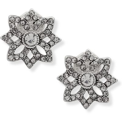 Openwork Button Closed Ears Earrings 60505781-G03