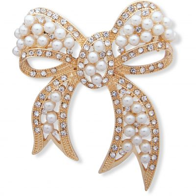 Pearl Bow Brooch 60506375-887