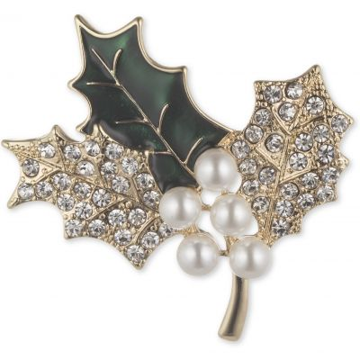 Holly Branch Brooch 60506346-887