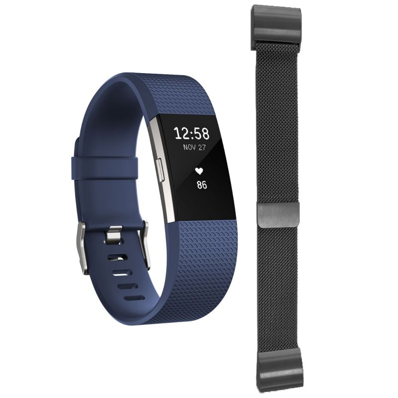 Charge 2 Blue Large with Free Additional Milanese Bracelet