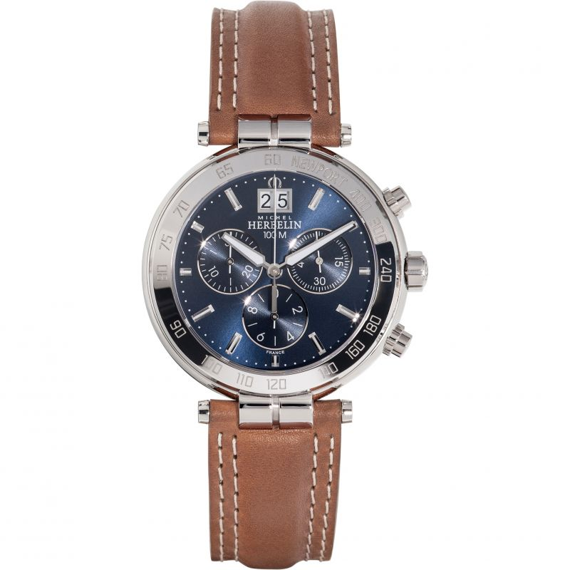 Michel Herbelin Newport Chronograph Watch 37654/AP15Go