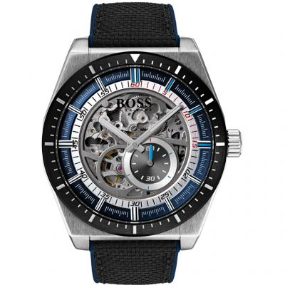 Hugo Boss Signature Timepiece Collection Skeleton Signature Herrenuhr in Schwarz 1513643