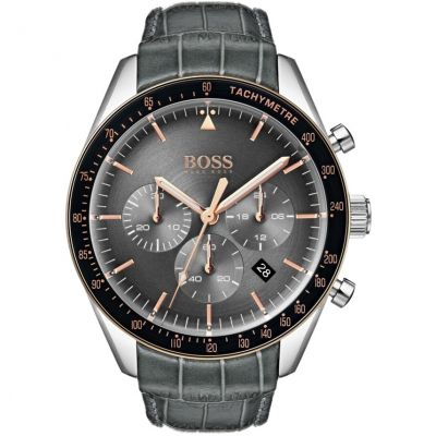 Hugo Boss Trophy Trophy Herrenuhr in Grau 1513628