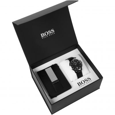 Hugo Boss Officer Money Clip Box Set Herrenuhr in Schwarz 1570065