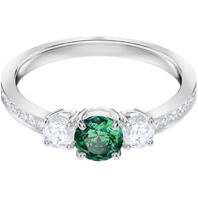 Damen Swarovski Attract Trilogy Ring Size R rhodiniert 5448876