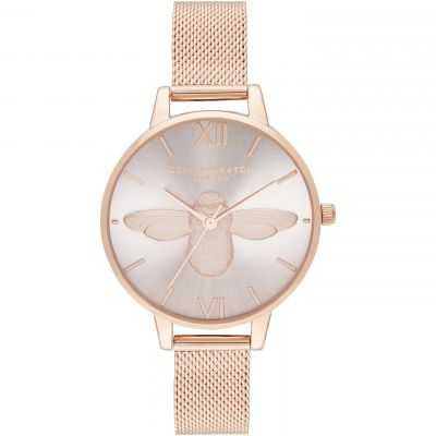 Demi Blush Dial & Rose Gold Mesh Watch