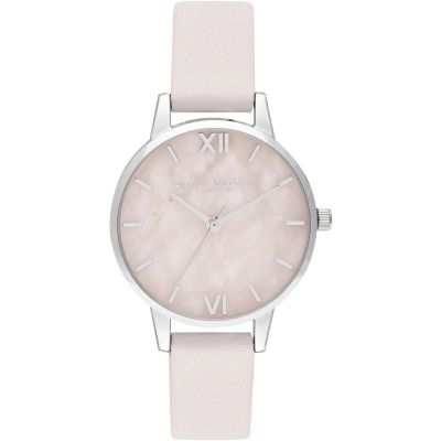 Midi Rose Quartz Blossom & Silver Watch