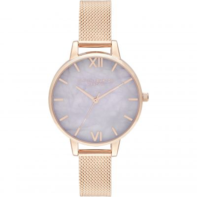 Demi Amethyst Rose Gold Mesh Watch