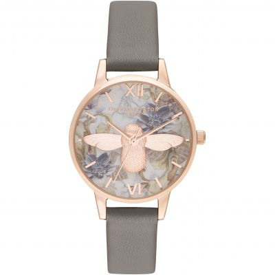 Midi 3D Bee Vegan London Grey & Rose Gold Watch
