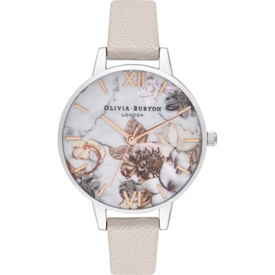 Marble Florals Demi Pearl Pink, Rose Gold & Silver Watch
