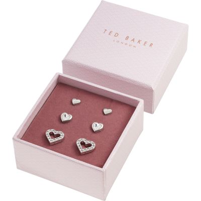 Ted Baker Silver Plated Laaria Heart Trio Gift Set TBJ1941-01-02