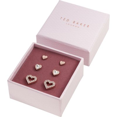 Ted Baker Rose Gold Plated Laaria Heart Trio Gift Set TBJ1941-24-02