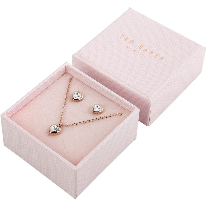Ladies Ted Baker Hadeya Crystal Heart Gift Set TBJ1943-24-02