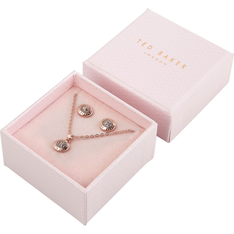 Ladies Ted Baker Emillia Mini Button Gift Set TBJ1946-24-138