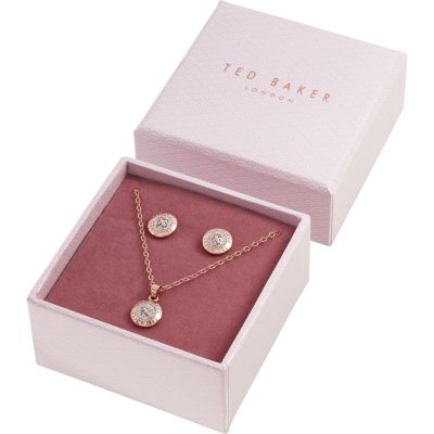 Ted Baker Rose Gold Plated Emillia Mini Button Gift Set TBJ1946-24-138