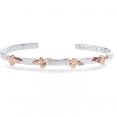 Ladies Olivia Burton Silver Plated 3D Bee Bangle OBJ16AMB59