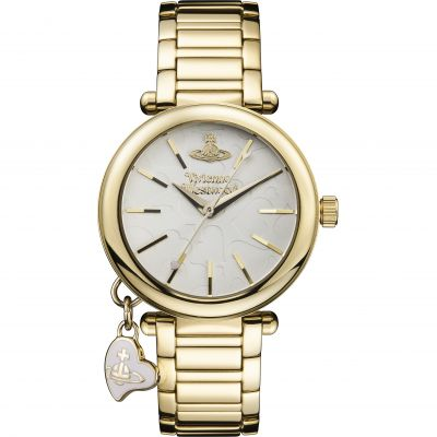 Ladies Vivienne Westwood Gold Heart Watch VV006WHGD