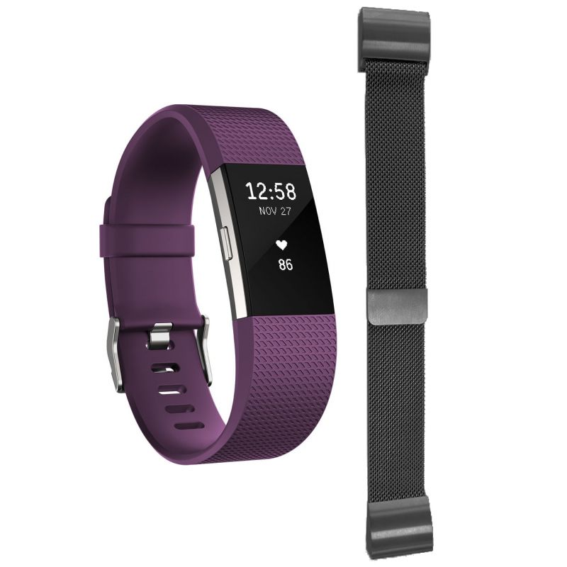 Charge 2 Plum Large with Free Additional Milanese Bracelet