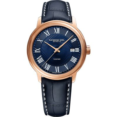 Raymond Weil Maestro Herrenuhr in Blau 2237-PC5-00508