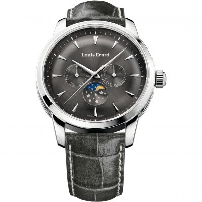 Louis Erard Heritage Day Date Moonphase Herrenuhr in Grau 14910AA03.BDC103