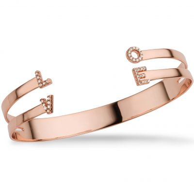 Ladies Mya Bay Rose Gold Plated Love Bangle JC-LO-01.P