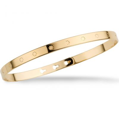 Ladies Mya Bay Gold Plated Big Stars Bangle JC-31.G