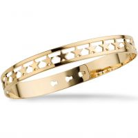 Ladies Mya Bay Gold Plated 20 Stars Bangle JX-03.G