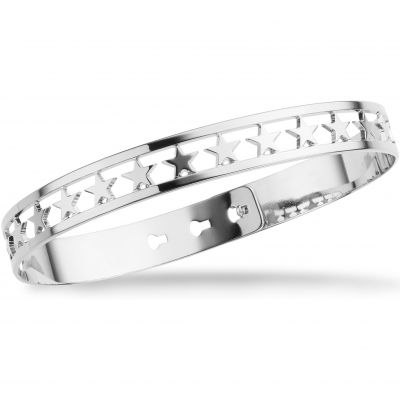 Ladies Mya Bay Silver Plated 20 Stars Bangle JX-03.S