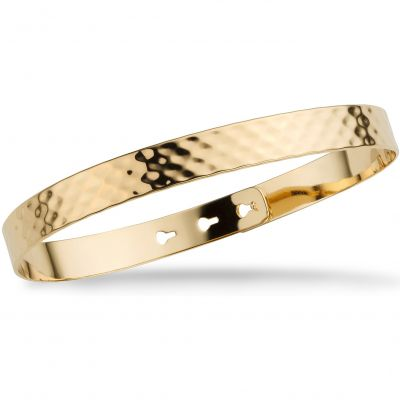 Mya Bay Dam Hammered Texture Bangle Guldpläterad JL-07.G