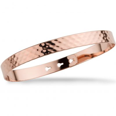 Mya Bay Dam Hammered Texture Bangle Roséguldspläterad JL-07.P